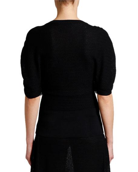 Stella McCartney Intarsia Knit Tie-Sleeve Blouse