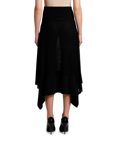 Stella McCartney Intarsia Knit Flange Side Skirt