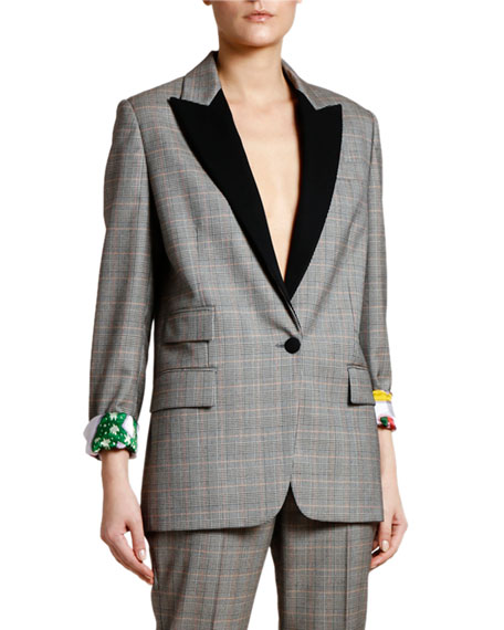 Stella McCartney Prince of Wales Tuxedo Jacket with Lucy in the Sky Lining