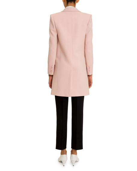 Givenchy Double Crepe Tailored Midi Coat