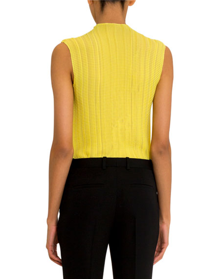 Givenchy Sleeveless Pleated Georgette Top