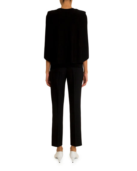 Givenchy Crepe Capelet Top