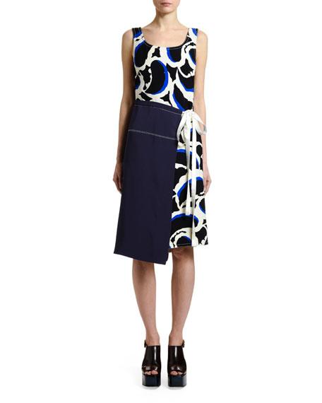 Marni Sleeveless Teardrop-Print Dress