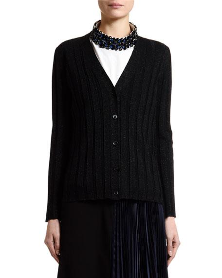 Marni Shimmer Ribbed-Knit Cardigan