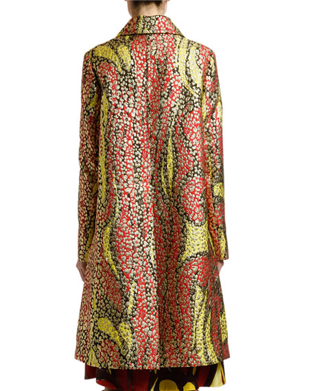 Marni Multicolor Brocade Button-Front Coat