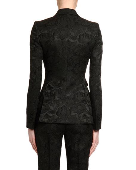 Dolce & Gabbana Stretch Jacquard Blazer Jacket