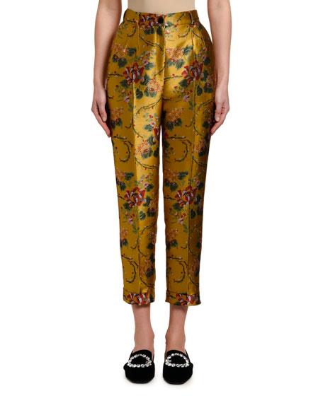 Dolce & Gabbana Flower-Jacquard Pants