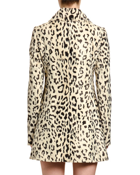 Dolce & Gabbana Double-Breasted Faux-Fur Coat