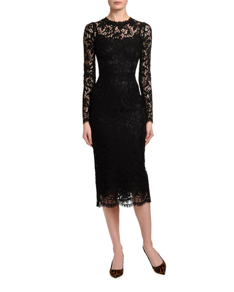 Dolce & Gabbana Heavy-Lace Cocktail Dress