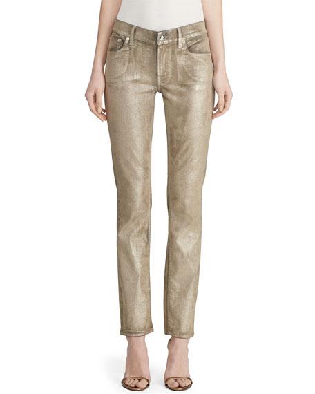 Ralph Lauren Collection Metallic Painted Skinny Jeans