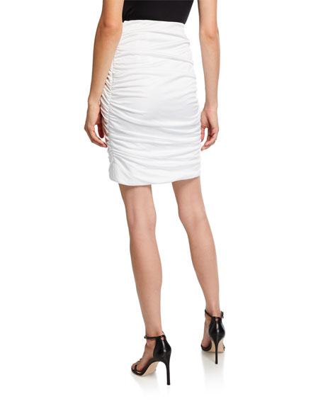 Redemption Mini Draped Gathered Skirt