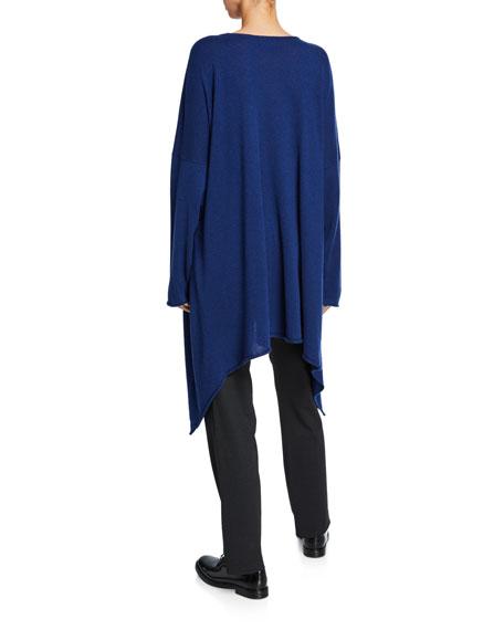 Eskandar Cascading Side Bateau-Neck Shirt