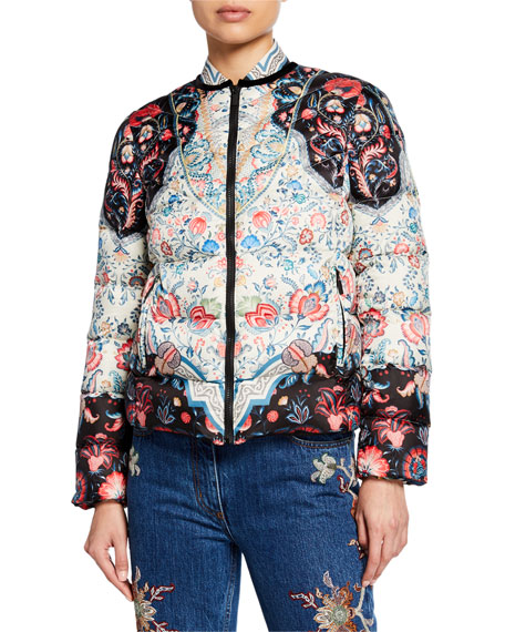 Etro Quilted Short Puffer Jacket