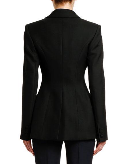 Alexander McQueen Lightweight Two-Tone Blazer Jacket
