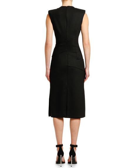 Alexander McQueen Sleeveless Slash-Cut Detail Dress