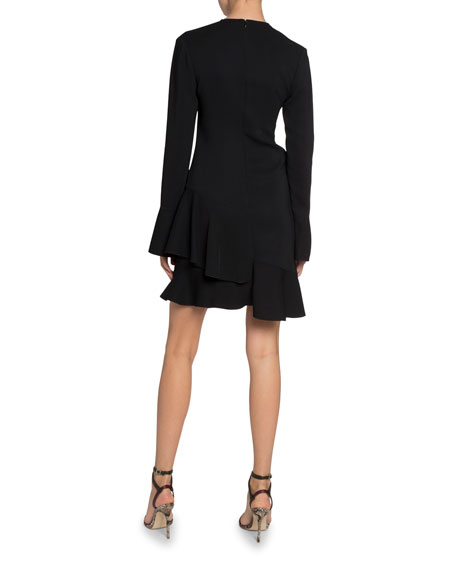 Victoria Beckham Triple Georgette Long-Sleeve Dress