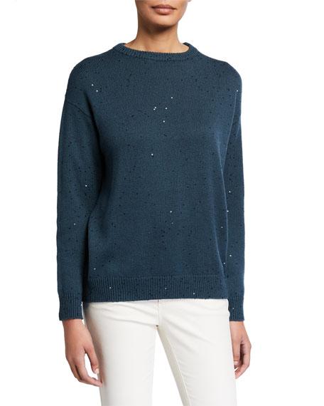 Brunello Cucinelli Sequined Cashmere Silk Sweater