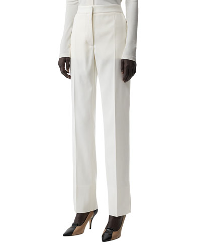 High-Rise Tux-Striped Tailored Trousers