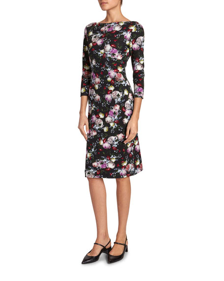 Erdem Reese 1/2-Sleeve Dress