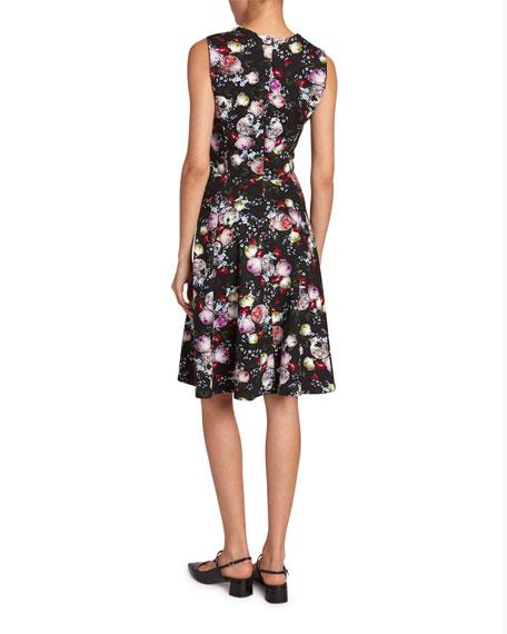 Erdem Dylanne Sleeveless Fluted Dress