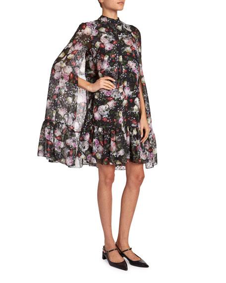Erdem Constantine Cape Mini Dress