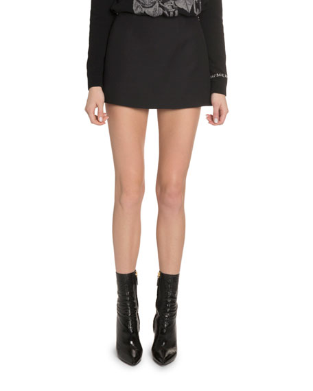 Valentino Crepe Couture A-Line Mini Skirt