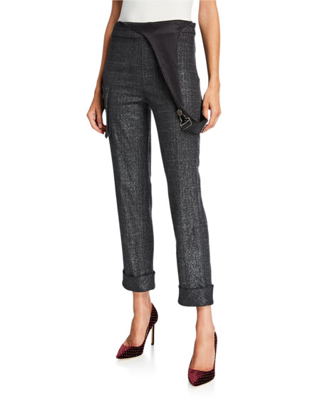 Hellessy Delerey Pants with Asymmetric Overalls-Detail