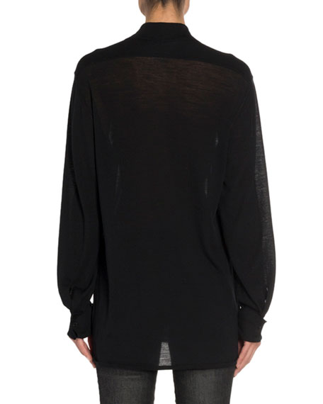 TOM FORD Convertible Cashmere Wrapped Boyfriend Shirt