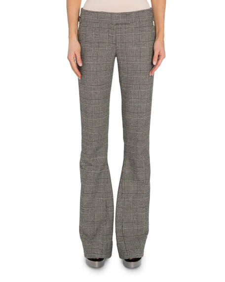 TOM FORD Prince of Wales Plaid Flare Pants