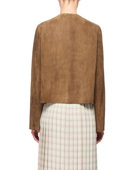 THE ROW Lino Suede Short Jacket