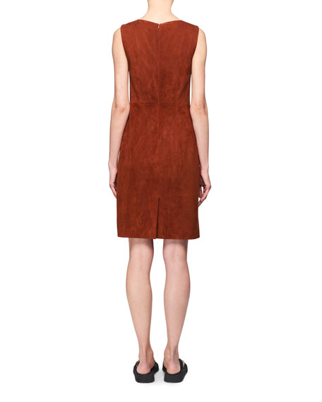 Image 2 of 2: THE ROW Hara Sleeveless Suede Dress
