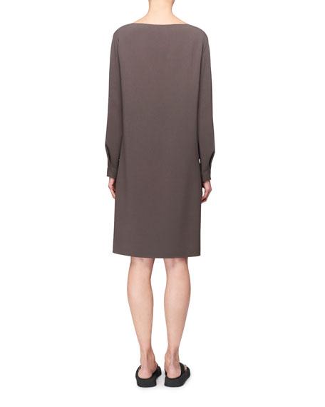 THE ROW Sarina Long-Sleeve A-Line Dress