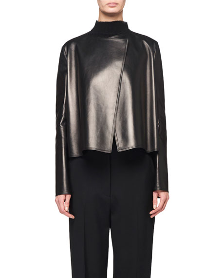 THE ROW Lino Leather Short Jacket