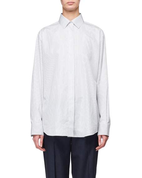 THE ROW Big Sisea Cotton Poplin Shirt