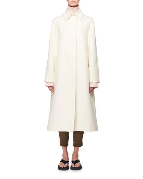 THE ROW Duru Stretch Cotton Midi Coat