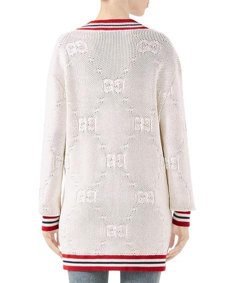 Gucci GG Knit Elongated Cardigan