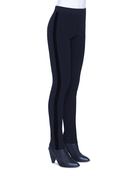 Akris punto Mara Jersey Pants, Black