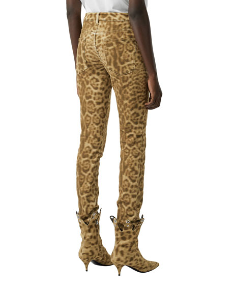 Burberry Leopard Print Skinny Jeans