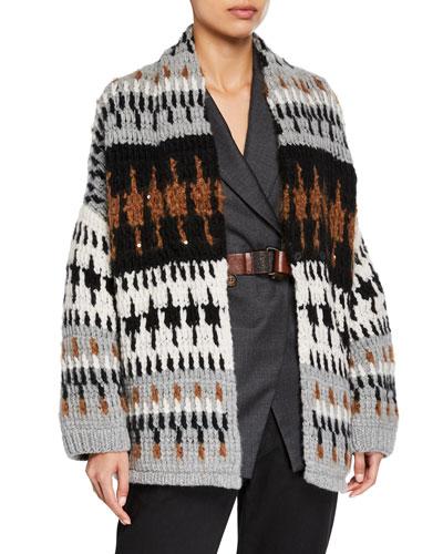 Cashmere Opera Knit Oversized Cardigan