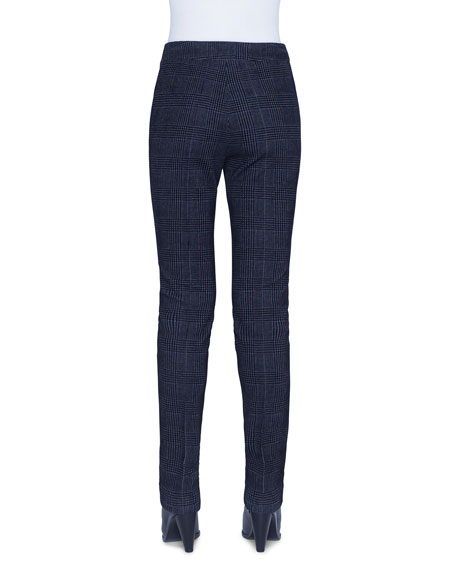 Akris punto Mara Glen Check Velvet Pants