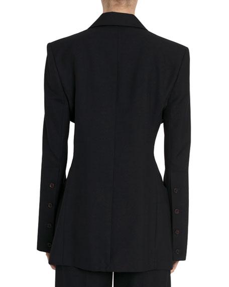 Rokh Cutout-Waist Blazer Jacket