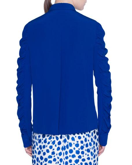 Akris punto Silk Button-Front Blouse