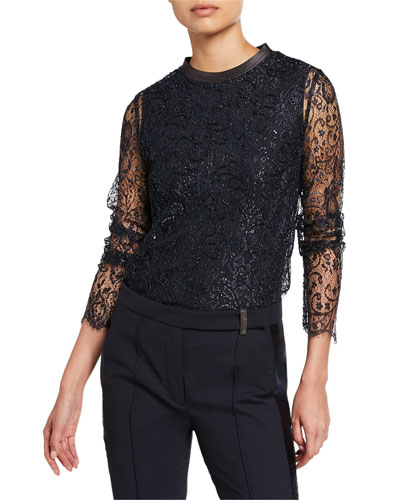 Crewneck Lace Top