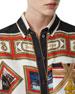 Burberry Postcard-Print Silk Button-Front Shirt