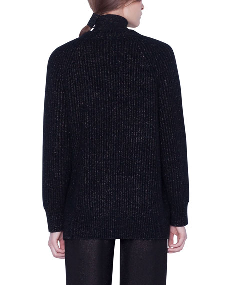 Akris Cashmere Shimmer Button-Front Cardigan