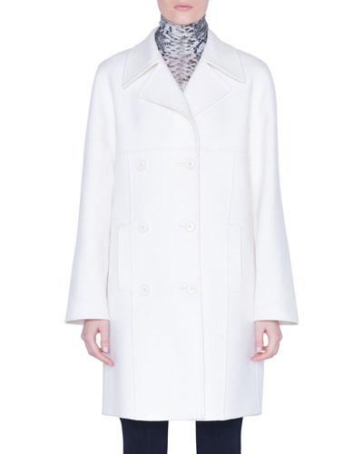 Cashmere Double-Breasted Midi Coat