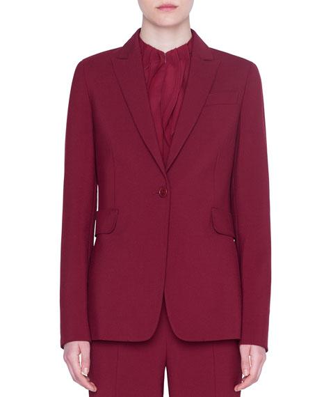 Akris punto Classic Crepe Two-Button Jacket
