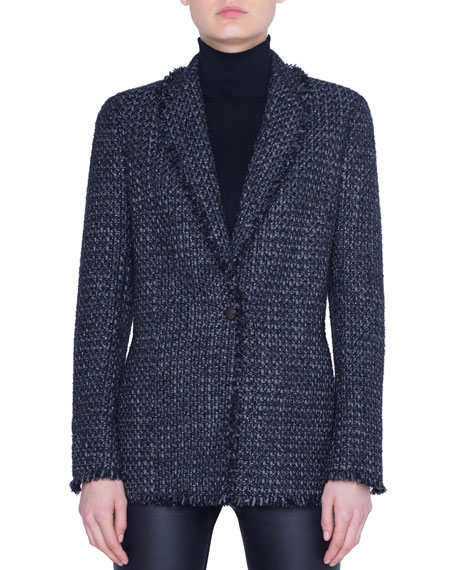 Akris punto Tweed Blazer Jacket