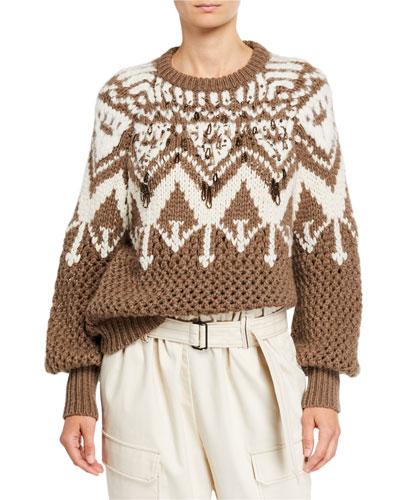 Cashmere Hand Opera-Knit Sweater