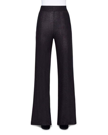 Akris Shimmer Silk Wide-Leg Pants